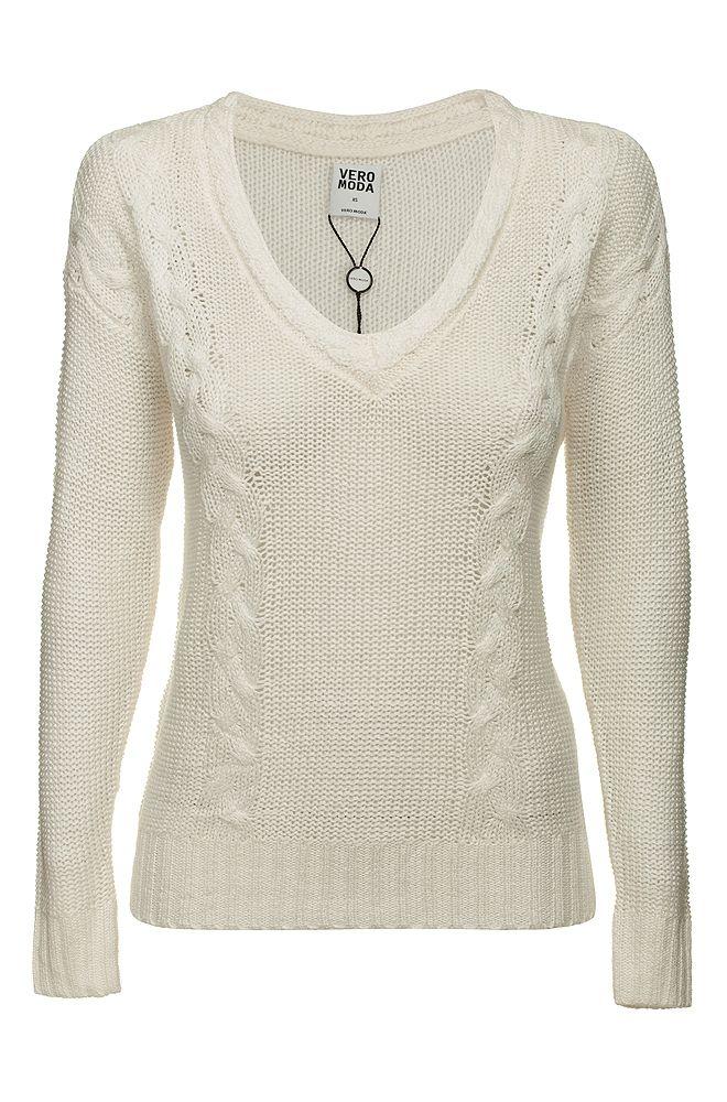 VERO MODA sweter długi rękaw ecru S 36 (4836858186) - Allegro.pl - Więcej niż aukcje.