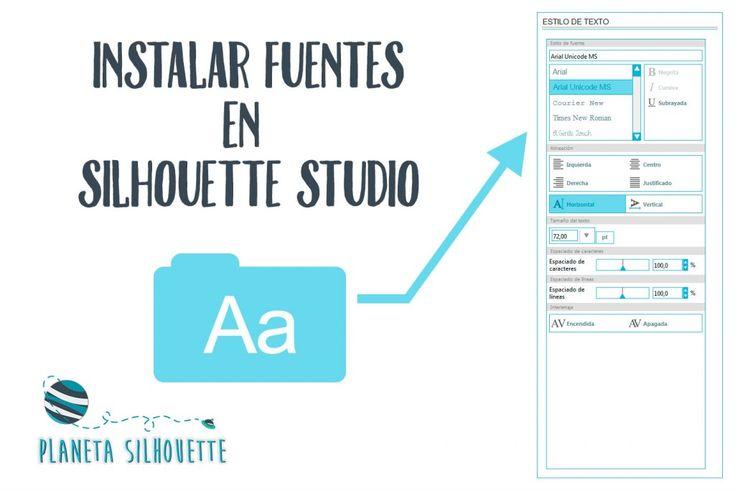 Instalar fuentes para usar en Silhouette Studio