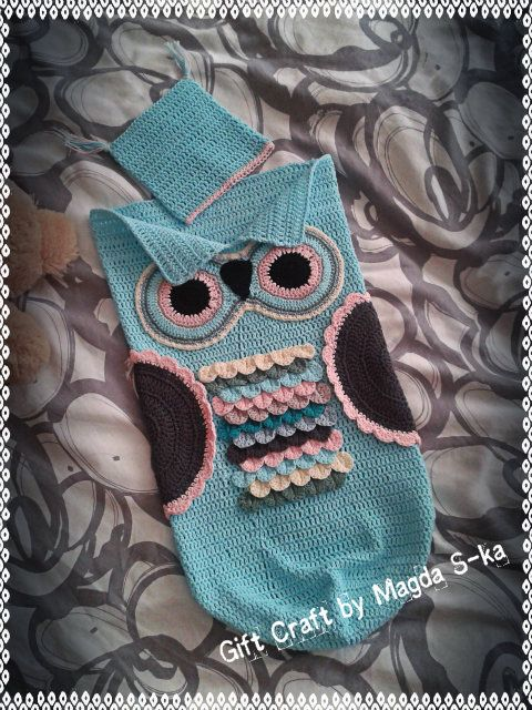 Adorable Owl Cocoon Baby  made with ravelry by Magda S-ka