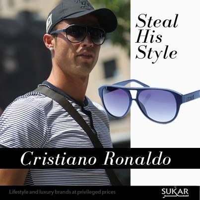 Get Cristano Ronaldo's look with these Just Cavalli sunglasses online now at sukar.com