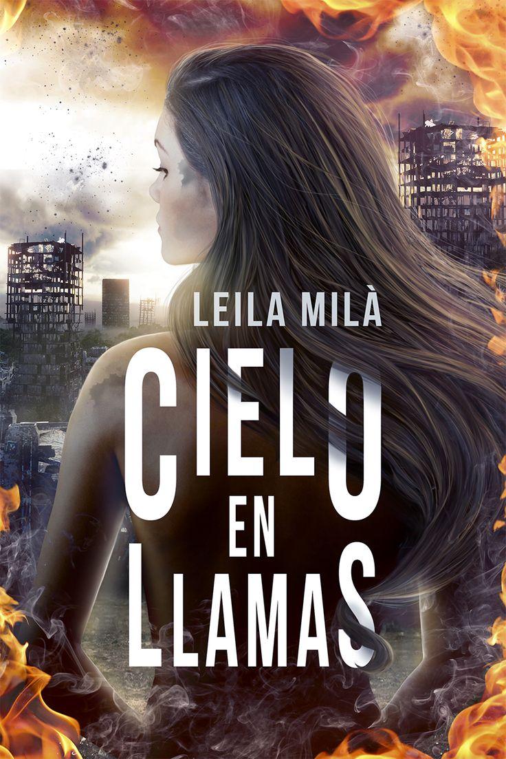 Cielo en llamas de Leila Milà, Onyx editorial. #literatura #romance #acción #diseñoeditorial #ilustración