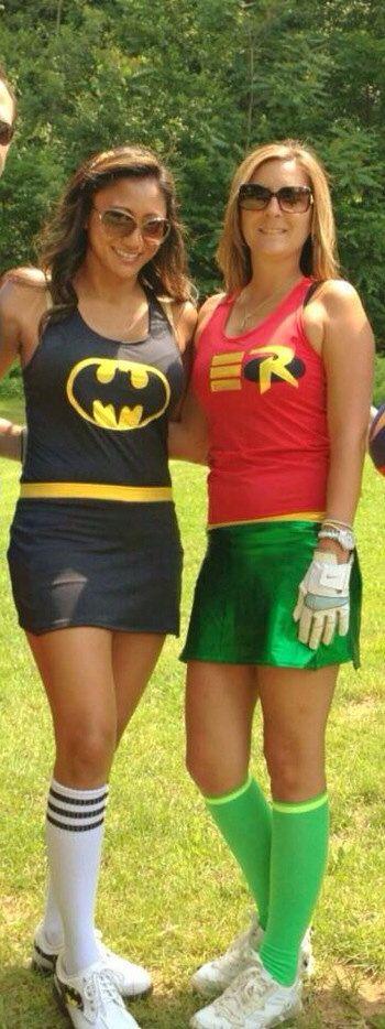 Cute Batman and Robin Race costumes!