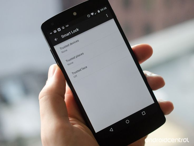 Smart lock screen security options in Android 5.0 Lollipop
