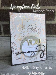 Springtime Foils | Springtime Foils dsp | Stamping up cards