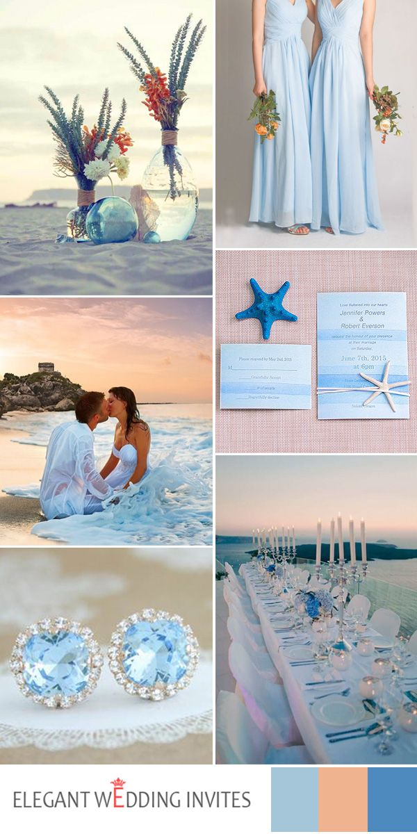 light blue beach wedding ideas for 2017