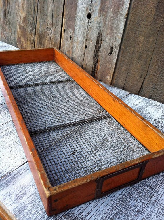 Nice Old Herb Drying Rack / Drawer / by greatoldcountryfinds  Something useful for you to do with your old windows @Steve n Jones