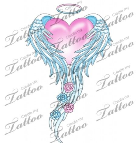 Image result for heart with wings tattoo