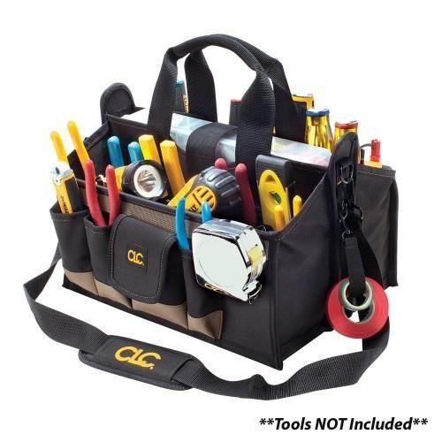 """CLC Tool Works 1529 16 Pocket 16"""" Center Tray Tool Bag"""