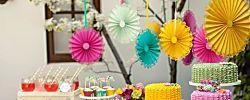 Coloridas rosetas para decorar una fiesta