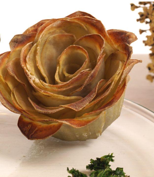 Der absolute Hingucker: wunderschöne Kartoffelrosen von Evas Backparty