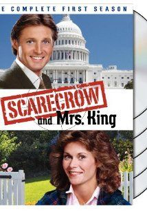 Scarecrow and Mrs. King (TV Series 1983–1987)  Stars: Kate Jackson, Bruce Boxleitner, Beverly Garland  A housewife, Mrs. King, is handed a package by a secret agent who who is being pursued by bad guys. The secret agent, Lee Stetson, then has to track down the housewife before the bad guys do.