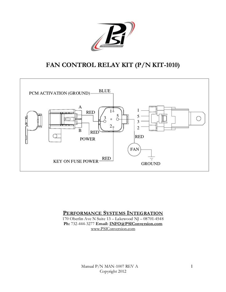Fan Control Relay Kit wiring harness Wiring Diagrams