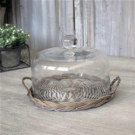 Biggie Best Small Dome And Willow Tray