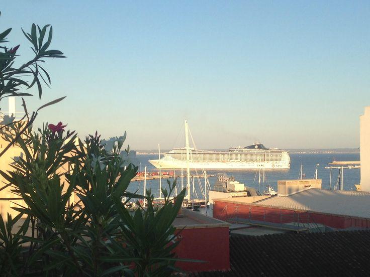 Apartment for sale in Palma de Mallorca El Terreno Paseo Maritimo Port Area - a view from the private roof terrace