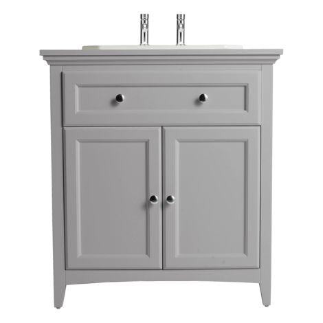 Quite like this vanity unit  (Bathstore) http://www.bathstore.com/products/savoy-gun-metal-grey-790-basin-unit-with-2-tap-hole-basin-2859.html