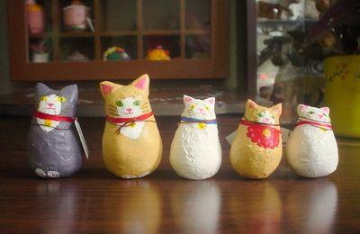 手作りMOMO:紙粘土の猫