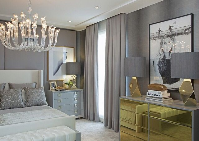 Schlafzimmer im gold grau mix gold grey mix grey gold emerald green interiors pinterest - Schlafzimmer zebra ...