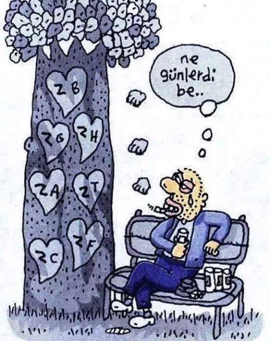 Ne günlerdi be.. #karikatür #mizah #matrak #komik #espri #şaka #gırgır #komiksözler