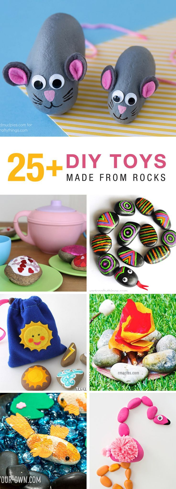 25+ gorgeous DIY toys you can make with rocks