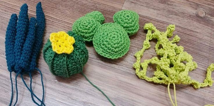 코바늘 선인장 화분 만들기 2  - 다 쓴 바디로션 케이스 재활용 화분 만들기 ~ crochet