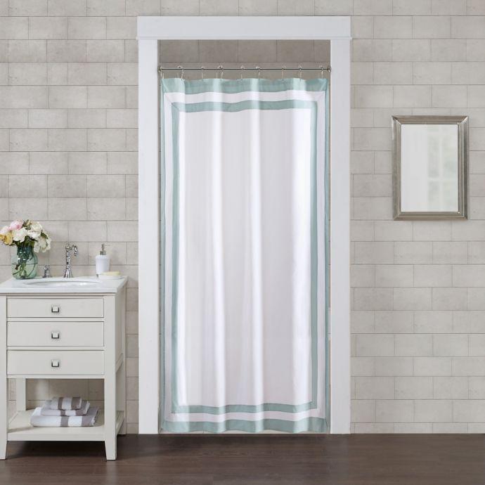 Wamsutta Hotel Border 78 Inch X 54 Inch Shower Curtain In Aqua