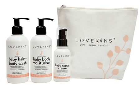 Lovekins Baby Skincare range nourishes and protects your baby's skin with 100% natural Australian superfoods.