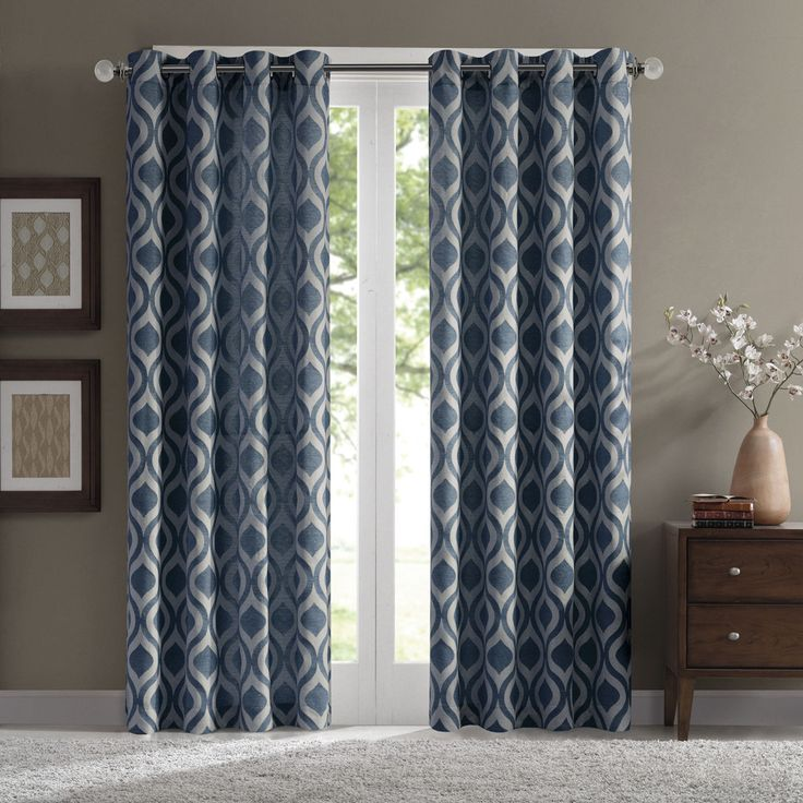 Update your living room with a pair of beautiful curtains, perfect for adding a refreshed look each season.