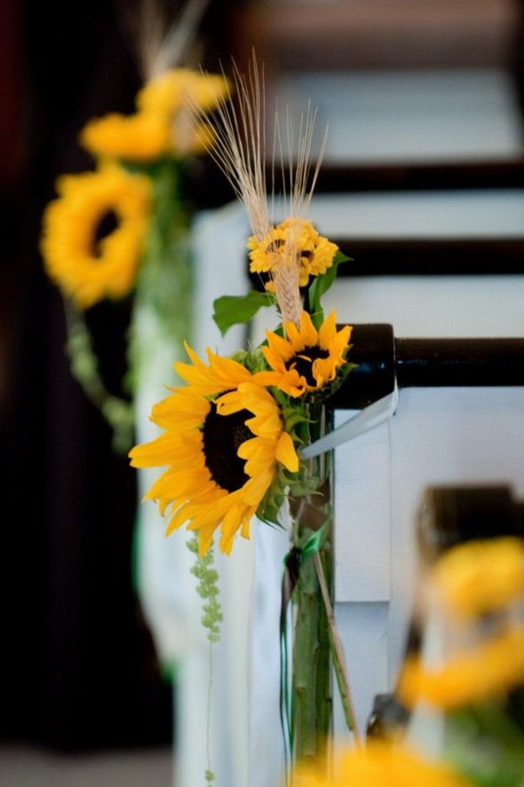 Sunflower Themed Country Wedding