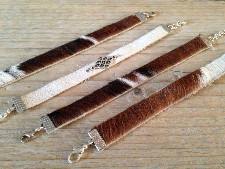 Leuke leren armbandjes, goed te combineren met andere armbanden, stoer en hip