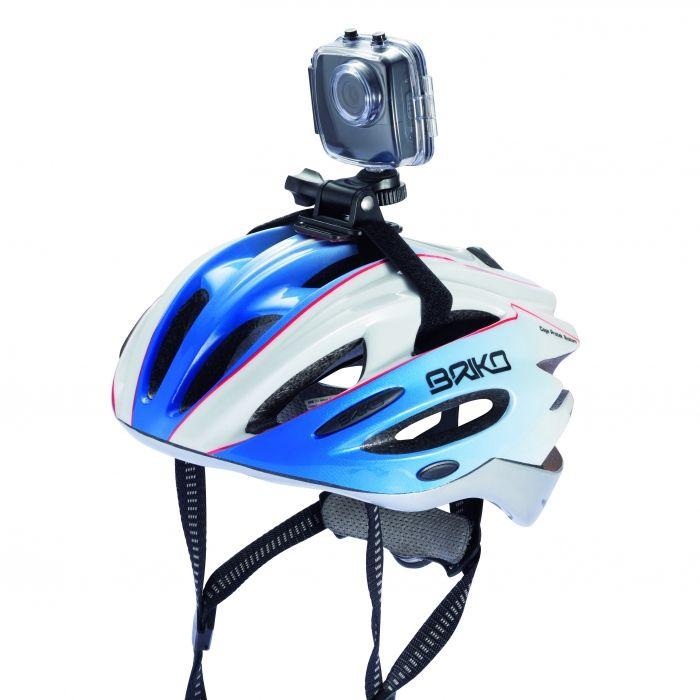 """Leg al uw ervaringen vast met deze 720P hoge resolutie waterdichte camera met 4x digitale zoom, 120 graden lens en geïntegreerd 2"""" touch screen. inclusief fietsstuur en helm montage onderdelen om al uw sportieve prestaties op te nemen. Micro SD kaartje (tot 32 GB) niet meegeleverd. - Camera's - Relatiegeschenken"""