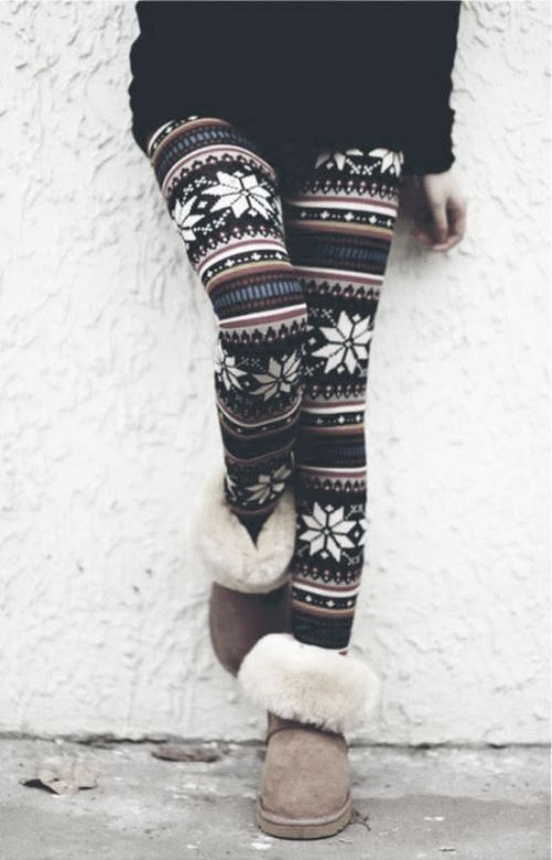 Warm, cute. & love the ugg boots!