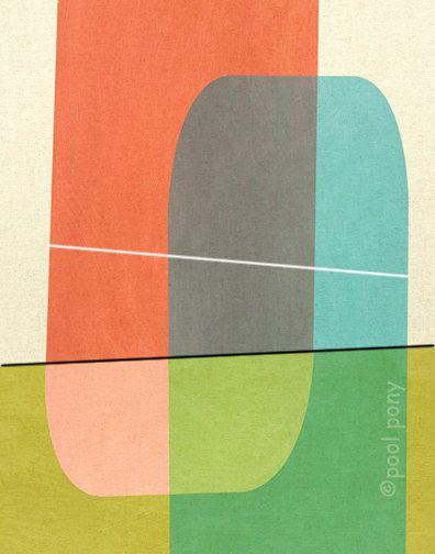 mid century design art print - bollard. $35.00, via poolponydesign at Etsy.