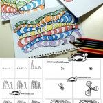 OP-ART – in Black Pen and Colored Pencils - easy to follow instructions!