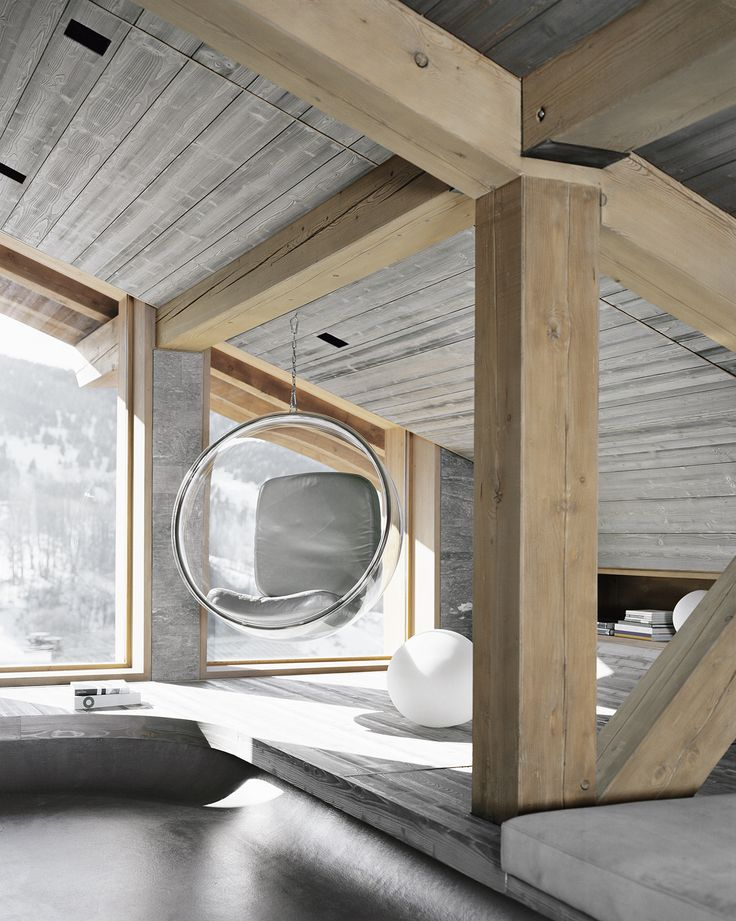 1000 id es sur le th me chalets sur pinterest cabane for Interieur chalet contemporain