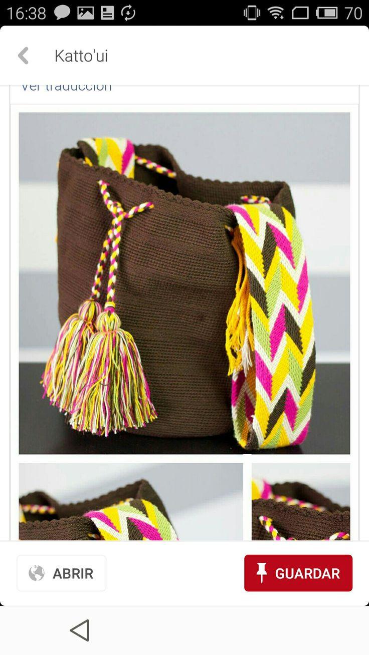 Wayuu bag brown