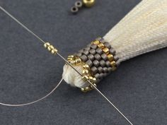 Step by step pictures for tassel cap ~ Seed Bead Tutorials