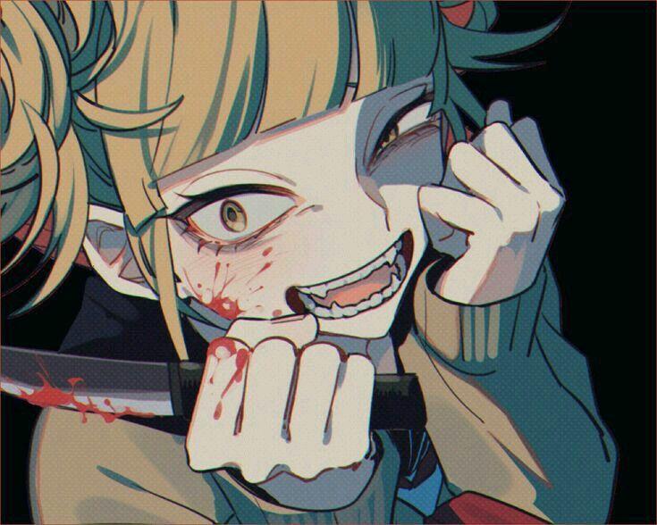 Bnha My Hero Academia Toga Himiko Animasi Kartun