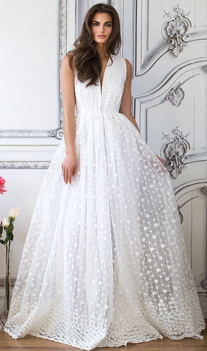 AMBROISIA EMBROIDERED GOWN