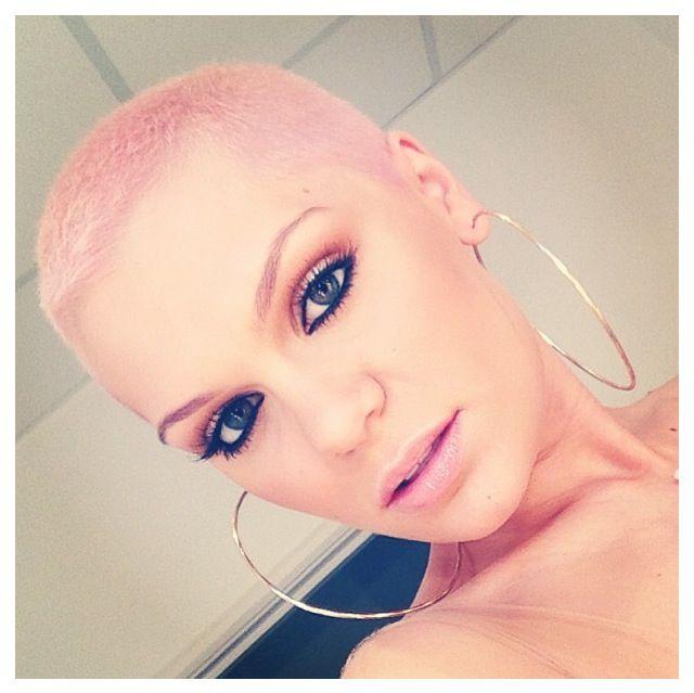 Jessie J Pink Buzz Cut Hair Style Pinterest
