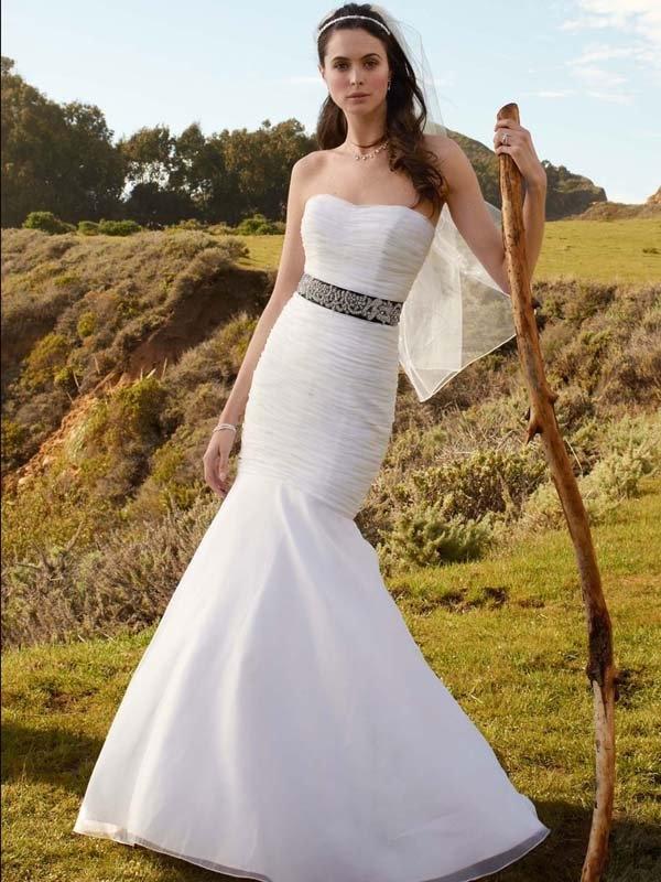 Style T3418 Organza Wedding Gowns Fitted Wedding Dress Wedding