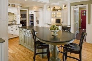kitchen islands with round end - Google Search