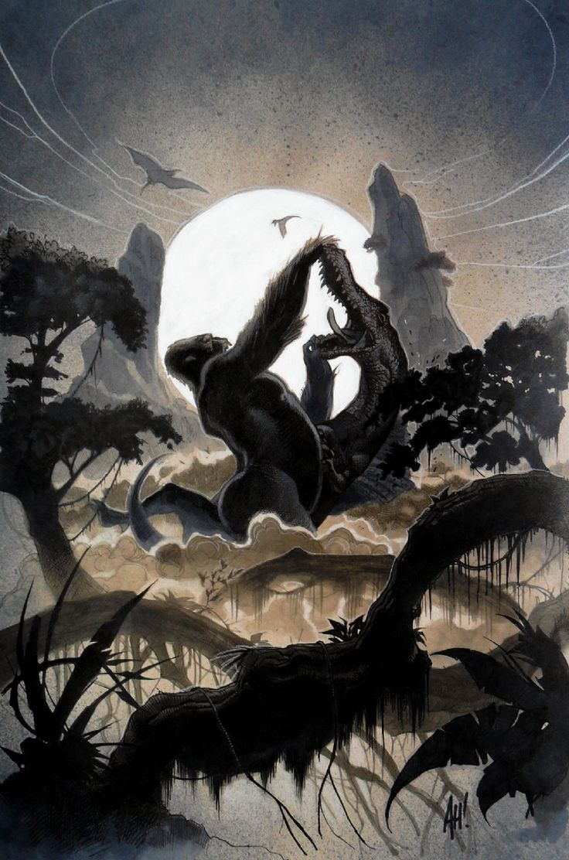 Adam Hughes Kong of Skull Island Cover Comic Art