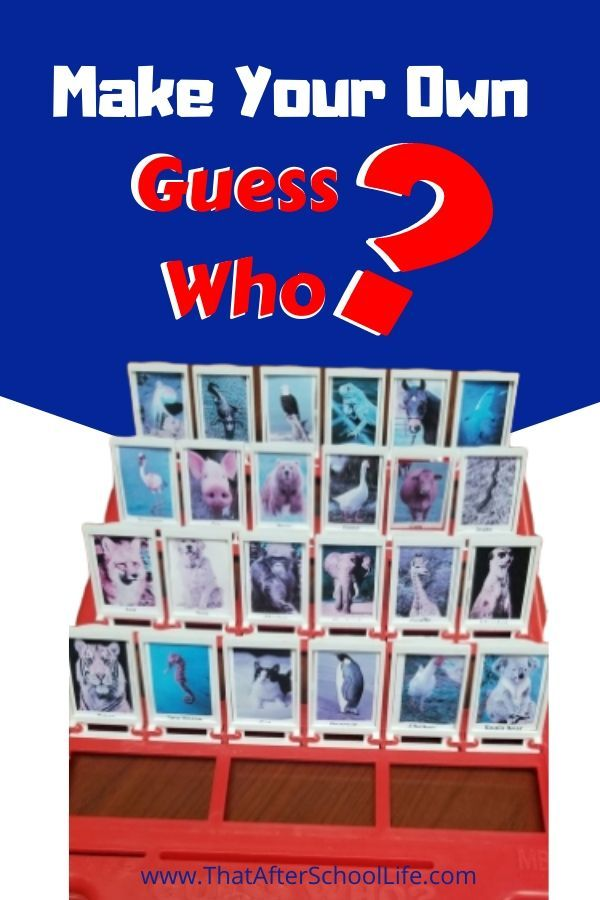 Make Your Own Guess Who Game That After School Life Make It Yourself Make Your Own Kids Writing