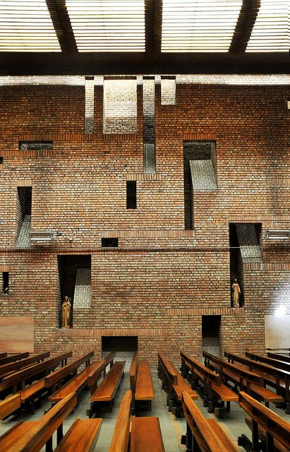 St Bride's Church in East Kilbride Kirk, New Town Scotland by Gillespie, Kidd Coia Architecture, 1963