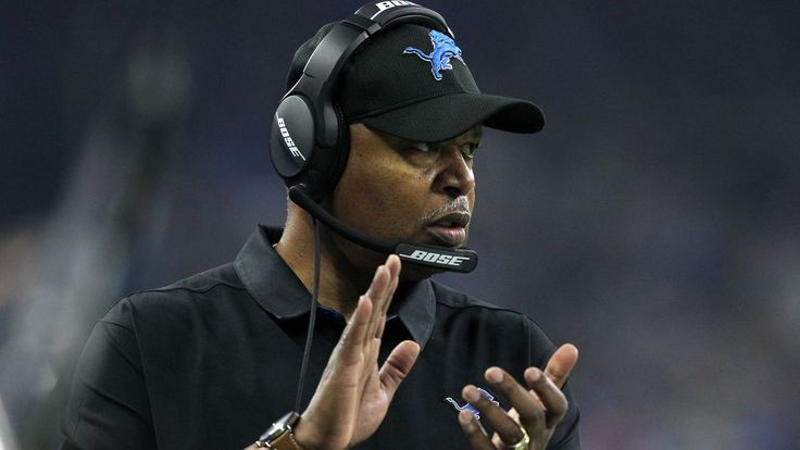 "Photo by Jorge Lemus. Jeremy Reisman.  ""Report:  Jim Caldwell will remain the coach of the Detroit Lions in 2017.""  Pride of Detroit. http://www.prideofdetroit.com/2017/1/4/14164350/jim-caldwell-will-remain-coach-detroit-lions-in-2017"