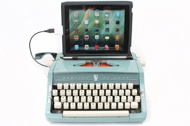 I'll admit I'm smitten by the IDEA of this (though there's no way I'm spending $500 for one of these): Deze Typemachin, Bbstyle, Marketing Stuff, Retro Usb, Bb Style, Usb Keyboard, Computers Keyboard, Ipad Typewriters, Usb Typewriters