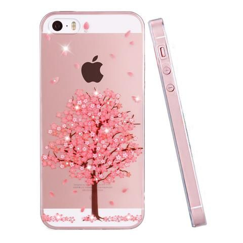 PZOZ For iphone 5se case Rhinestone glitter silicone cover original For iphone 5 s luxury 3D cute cartoon Shell ipone 5s