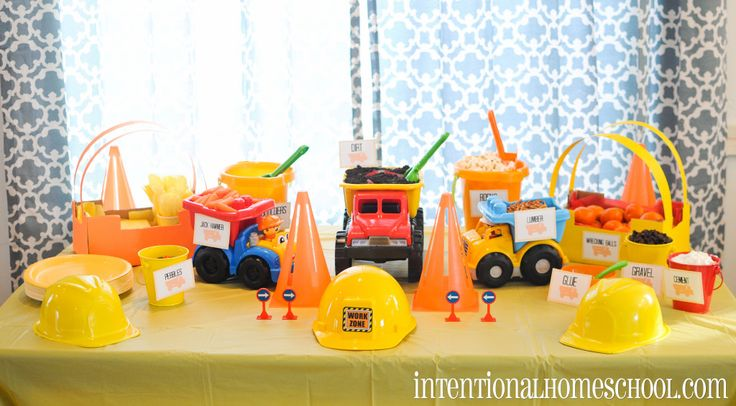 Boy Turns 2 and We Throw a Themed Birthday Party - Construction ...