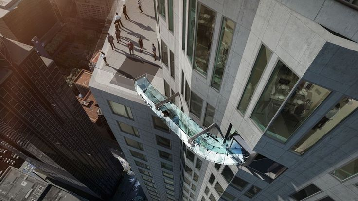 The US Bank Tower will have a clear slide stuck to the side of the 69th floor as part of its touristy renovations.