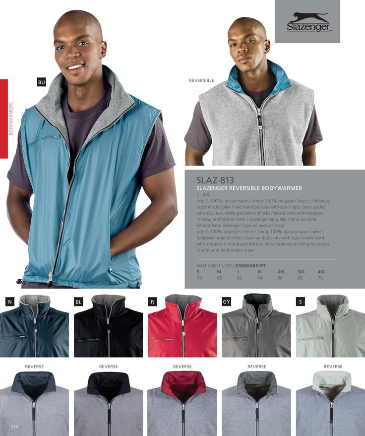 Slazenger Reversible Body Warmer South Africa, Johannesburg and Cape Town #clothing #clothes #mensclothing #fashion #slazenger #corporateclothing #swag #tagsforpins